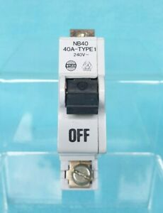 Wylex 40A NB40 BS 3871 TYPE 1 M6 240V Circuit Breaker  (No.4)