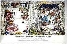 Dept 56 An Original Snow Village Christmas, 1995 Greenbook Guide Print