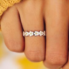 for Women Purpose Ring Size 8 Charm Fashion Daisy Flower Jewelry Wedding Rings