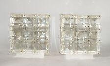 2 Wandlampen sconce Kristall Versilbert 70er Kinkeldey Bakalowits Lobmeyr glass