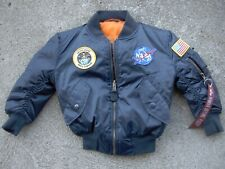 Alpha Industries NASA MA-1 Jacket Bomber Nice Kids 3T Astronaut Space Halloween