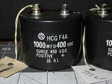 FANUC HCG F4A 1000 MFD CAPACITOR 400 VDC, SURGE 450 VDC & Tested (4217)