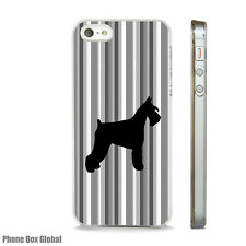 NEW SCHNAUZER DOG ART CASE FITS APPLE IPHONE 4 4S 5 5S 5C 6 6S 7 8 SE PLUS X