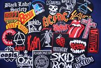 10 Piece RANDOM Lot Iron On Patch Patches Band Music Rock N Roll Heavy Metal DIY