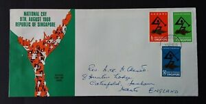 Singapore 1968 SG98/100 National Day Addressed FDC