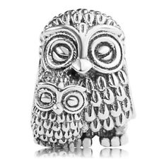 authentic S925 sterling silver Charming Owls Charm Bead fit European Charm Chain