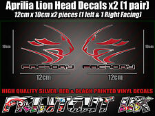 Aprilia Factory Lion Head DECAL STICKERS Fairing RS50 RS125 RSV4 Tuono Dorsoduro