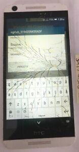 [BROKEN] HTC Desire 626S 8GB Gray (Metro PCS) Fast Ship Good Used Cracked Glass