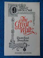 The Great Waltz - Royal Drury Lane Theatre Playbill - 1969 - David Watson