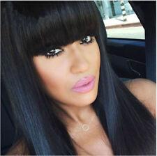 CHSW041 fine long fashion black straight natural health hair wigs for women wig