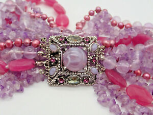 Ciner Ruby Amethyst Red Purple Vintage Necklace