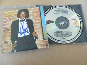 """MICHAEL JACKSON signed Autogramm signed signiert auf """"OFF THE WALL"""" CD-Cover"""