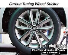 "Carbon Tuning Wheel Mask Sticker For Hyundai The new Avante/Elantra 16""(2013~14)"