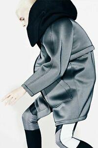 New ALEXANDER WANG for H&M Hooded Parka Down Vest Grey Jacket