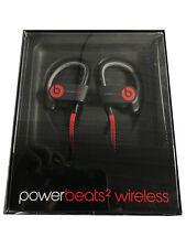 Beats by Dre -Powerbeats2 Black Wireless Bluetooth In-Ear Earbud Headphones (VG)