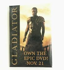 Button Pin Gladiator Russell Crowe Movie Promo Badge Employee - 2000