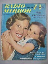 TV RADIO MIRROR SEPTEMBER 1950 SPECIAL HOMEMAKERS WIN TV SET 15 PRIZES DINAH