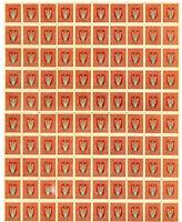 Ukraine 1920 Imperforate Stamp Lot of 450 Copies Quite Scarce