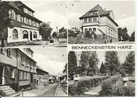 Ansichtskarte Benneckenstein/Harz - Rathaus-Postamt-Kurpark-Bergstraße -1978-s/w