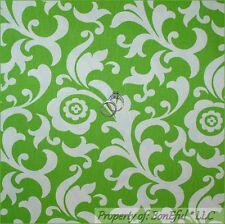 BonEful Fabric FQ Woven Cotton Decor Green White L Flower Leaf Shabby Chic Retro