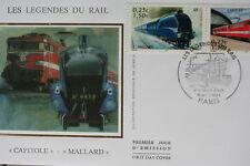 ENVELOPPE PREMIER JOUR SOIE 2001 LEGENDES DU RAIL CAPITOLE MALLARD