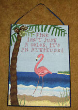 Pink Flamingo Tapestry Bannerette Wall Hanging