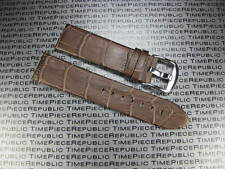 22mm Brown Genuine Grain Leather Strap Watch Band MONT BLANC MONTBLANC I