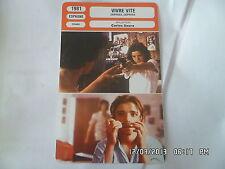 CARTE FICHE CINEMA 1981 VIVRE VITE José Antonio Valdelomar José Maria Hernas Rol