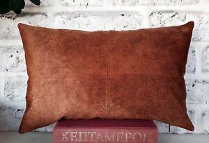 Cognac color baby face soft velvet fabric square pillow cover-1QTY