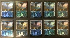 ***10x FOIL Showcase Basic Island SET MTG M21 MINT -Kid Icarus-