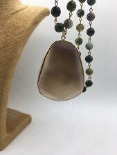 Fashion Agate Stones Chain stone Pendant Necklace handmade woman gift