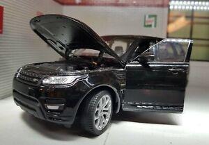 1:24 Range Rover Sport SDV6 V8 5.0 2015 Noir Echelle WELLY Modèle Détaillé