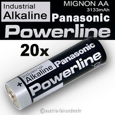 20x MIGNON AA LR6 MN1500 Batterie PANASONIC POWERLINE INDUSTRIAL