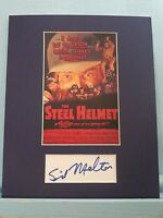 "Samuel Fuller - ""The Steel Helmet"" signed by Sid Melton as Joe"
