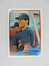 Steve Lombardozzi Minnesota Twins 1989 Topps Baseball Card Number 376