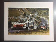 1968 Porsche 906 Carrera 6 Coupe Gotschke Showroom Advertising Poster RARE 17x13