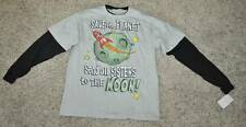NWT-Boys Hybrid Beige Save Planet Send All Sisters To The Moon Shirt-sz 18/20