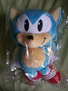 "NEW Sonic The Hedgehog Tomy 12"" Stuffed Plush, Classic Sonic"