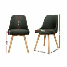 Artiss Replica Set of 2 Dining Chairs - Charocal