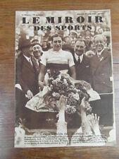 LE MIROIR DES SPORTS No 724 16 Aout 1933 : Georges SPEICHER CHAMPION DU MONDE