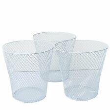 """Essentials 9"""" Wire Waste Basket IN BLACK OR WHITE"""