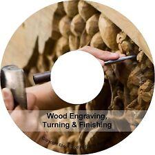 Woodwork Woodworking Lathe Engraving Turning Finishing Engraving Books PDF on CD