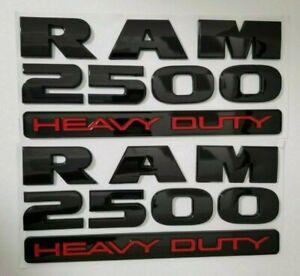 2 B RAM 2500 DOOR BADGE for DODGE LETTER RAM2500 nameplate 2015 2016 2017 2018