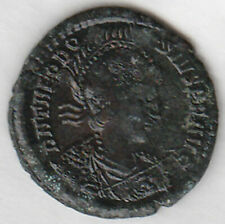 THEODOSIUS (379-395AD) AE2 22mm /Standing in galley & Victory CONSTANTINOPLE EF