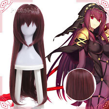 Anime Fate/Grand Order Scathach Lancer Elizabeth Scáthach Cosplay Purple Red Wig