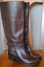 New J Crew Parker Tall Boots VINTAGE BROWN $358 03010 Sz 6 FABULOUS