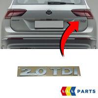 NEW GENUINE VW TIGUAN 16 - 19 TRUNK BOOT LID 2.0 TDI BADGE EMBLEM 5TA8536752ZZ