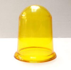 Old Soviet Industrial Amber Orange Plastic Globe Warning Alarm Signal Lamp NEW
