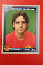 PANINI CHAMPIONS LEAGUE 2008/09 # 16 MANCHESTER UNITED HARGREAVES MINT!!!