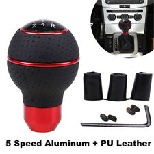 5 Speed Black And Red Line Manual Shift Lever Auto Parts Shift Knob Adapter Set